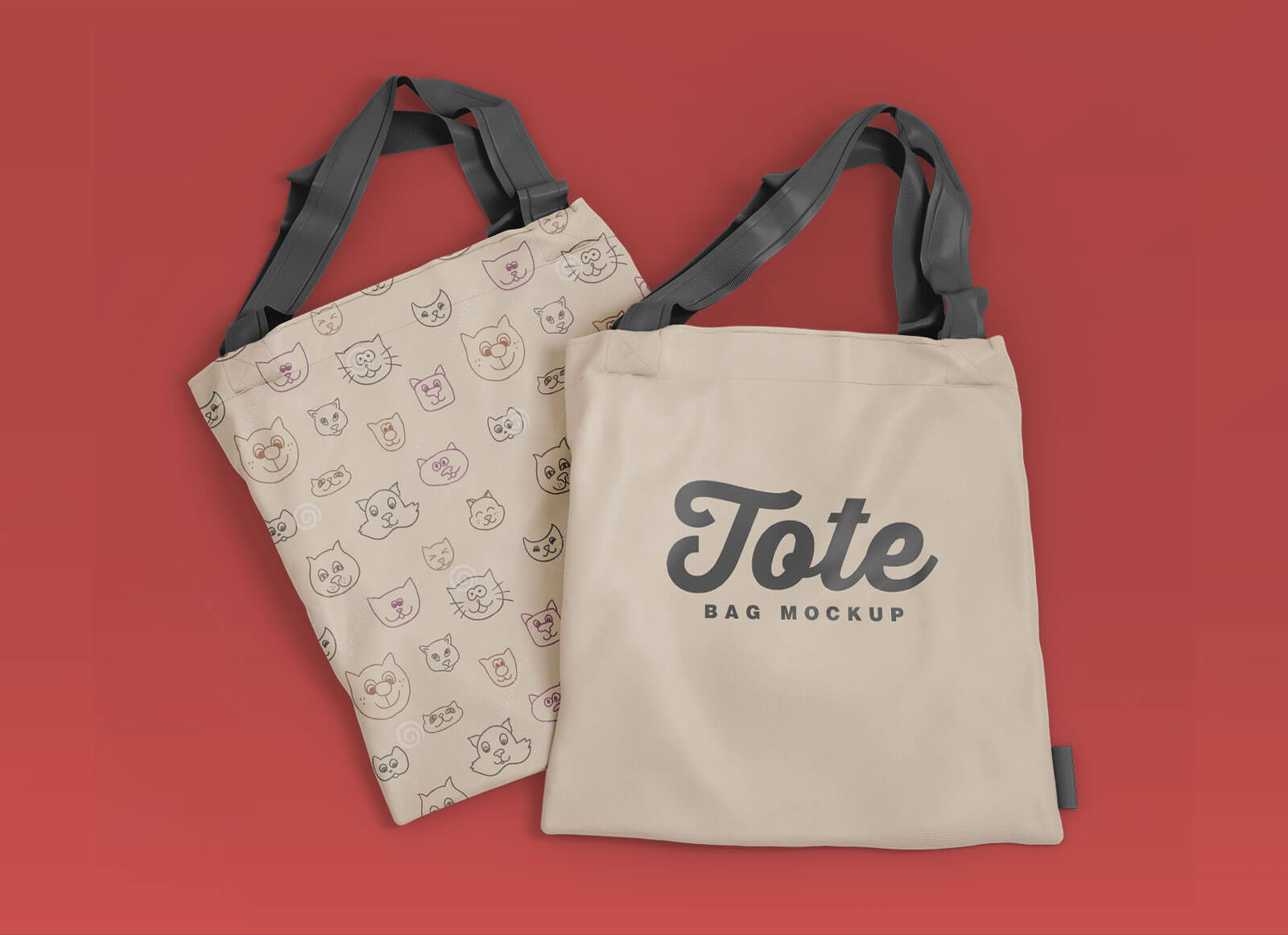 It features a photorealistic design, smart layers for easy customization, and interchangeable colors and backgrounds. Free Modern Tote Bag Mockup Psd Set Good Mockups