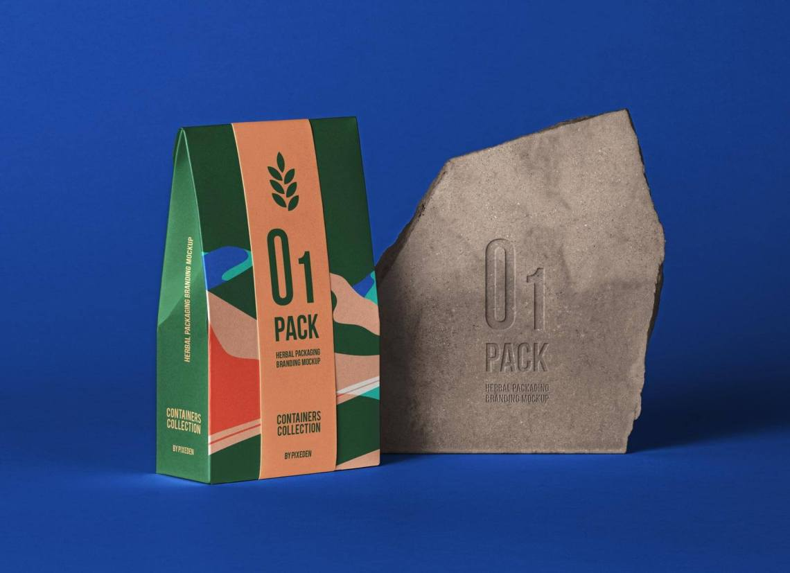 Download Free Organic Kraft Paper Tea Bag Packaging Mockup PSD ...