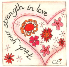 card find your strength in love