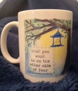 An anti-fear mug