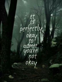 Okay to admit you are not okay