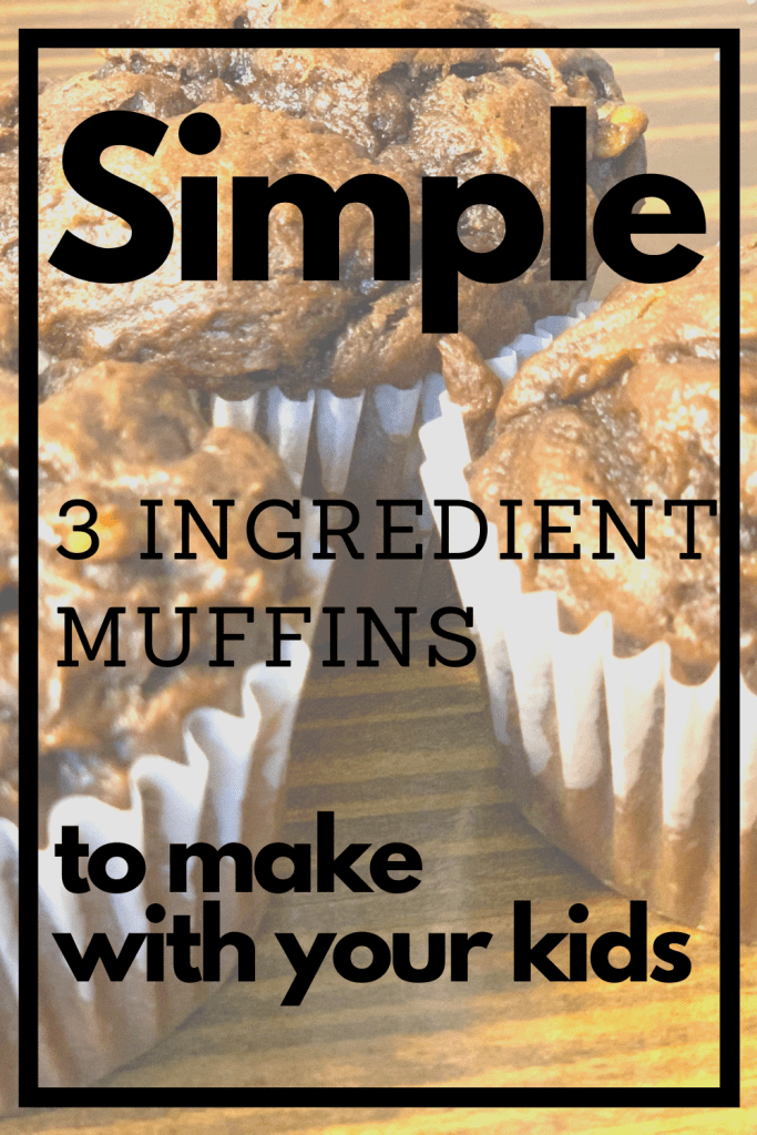 Super simple 3 ingredient muffins. They are chocolate banana and peanut butter. So easy to make and absolutely delicious.