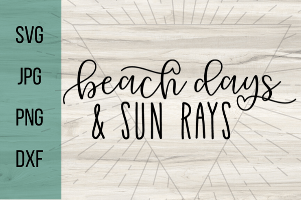 Free beach days and sun rays SVG. Summer life is the best life, decorate anything with this free pool svg. Perfect Summer DIY project for your Cricut. #cricut #freesvg #svg #diy #summervibes #beachvibes