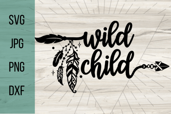 Free Wild Child SVG. Every family has a wild child.. or two.. or three.. Great for a Cricut project for beginners. With this adorable SVG you can make the perfect Cricut DIY project! Great for shirts with sayings or canvas bags. #cricut #freesvg