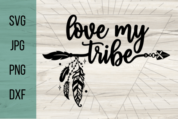 Download Free Love My Tribe SVG - Good Morning Chaos Free SVGs