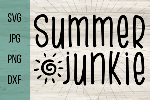 Free Summer Junkie SVG. Great for a Cricut project for beginners. With this adorable SVG you can make the perfect Cricut DIY project! Great for shirts with sayings or canvas bags. #cricut #freesvg #summersvg