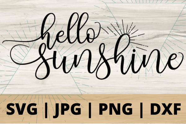 Free Hello Sunshine SVG marks the beginning of summer. With this adorable SVG you can make the perfect Cricut DIY project! Great for shirts with sayings or canvas bags.