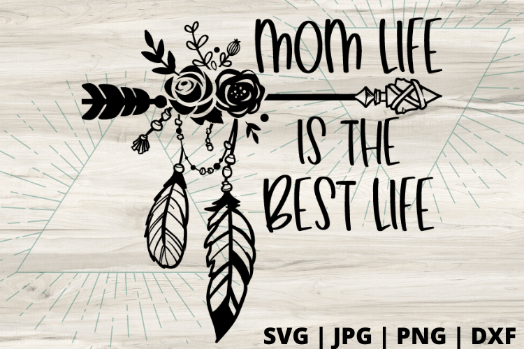 Free Mom life is the best life SVG. Mom life SVGs are the best! Have fun making this fun DIY project you can make with your Cricut #momlife #svg #momsvg #cricut #freesvg