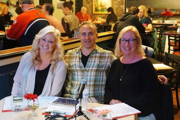 the judges Annie Brobst, Susan Coviello & Brian Alex