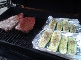 Steak and Zucchini on the Barbecue