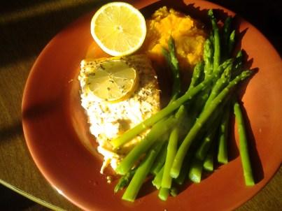 Salmon, Asparagus, and Sweet Potato Recipe