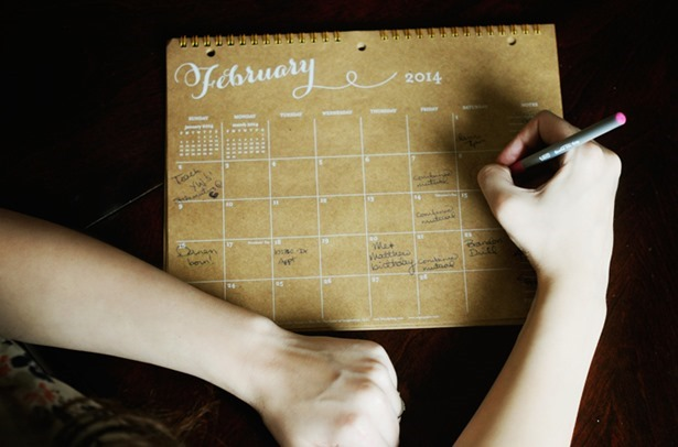 resolutions, goals, setting goals, calender