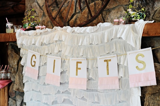 gift decorations baby shower girl gold pink glitter tissue