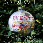 First Christmas Ornament D.I.Y.