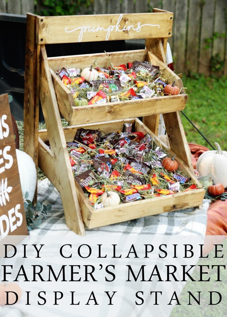 collapsible farmers market stand