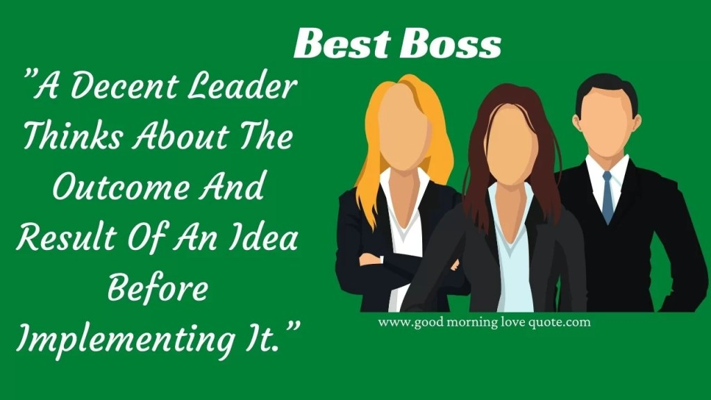 Best Boss Quotes