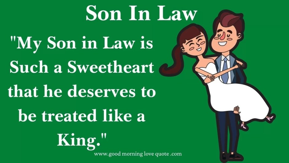 Son in law quotes for wedding