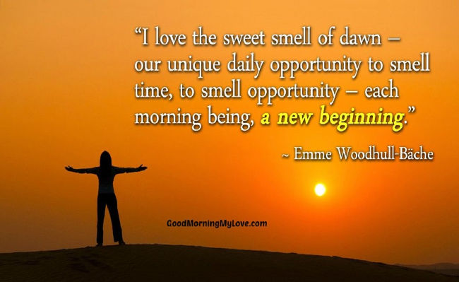 Good Morning My Love Quotes Emme Woodhull-Bache