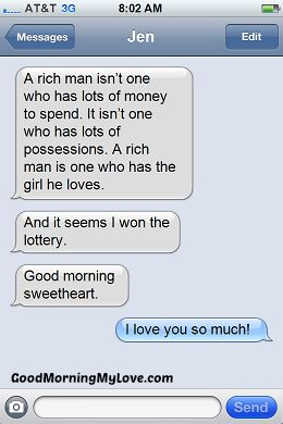 Sweet, Funny & Cute Good Morning Text Messages