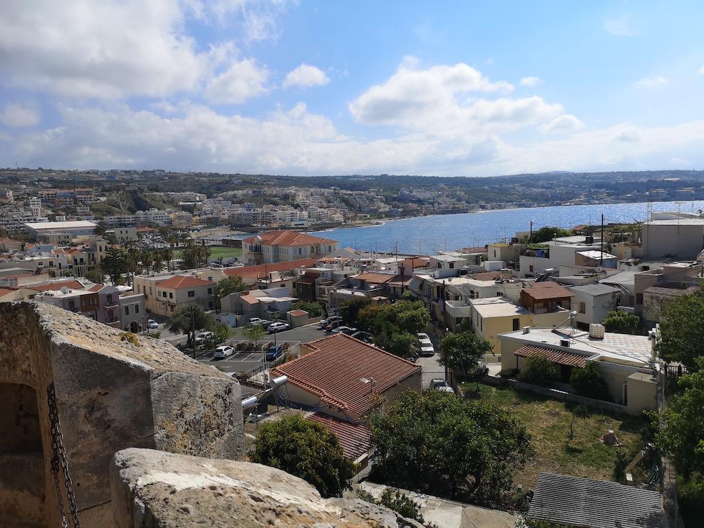 voyage en Crète magnifique vues depuis la forteresse de rethymnon