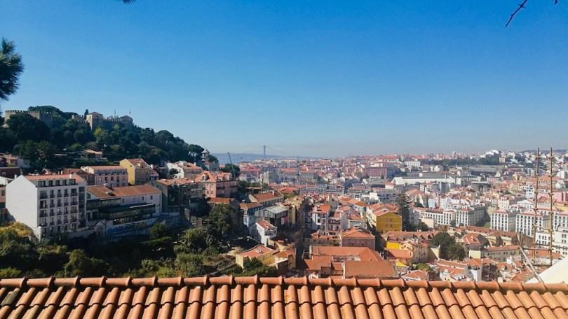 vue sur les toit de lisbonne au miradouro da senhora do monte