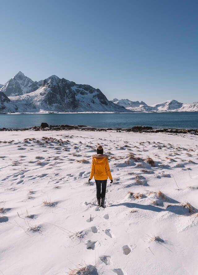 Winter Lofoten Noorwegen