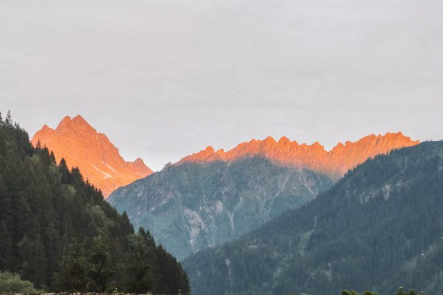 Berggletsjers Montafon