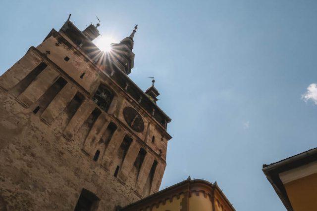 Tower Sighisoara Roemenië vakantie