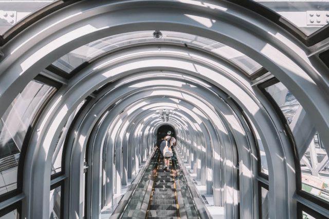 Attracties in Osaka G Tower Escalator