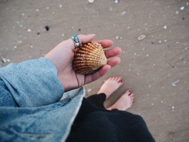 Langzaam reizend strand