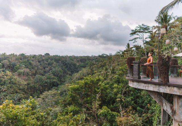 Bali Attracties Ubud Uitzicht Watu Kurung Hotel