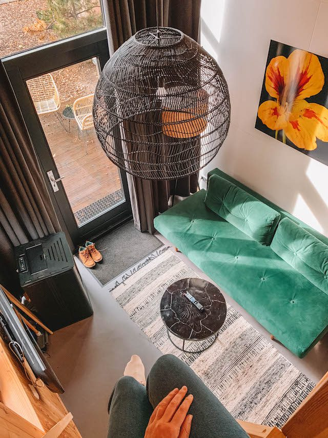 Droparts Tiny House-woonkamer