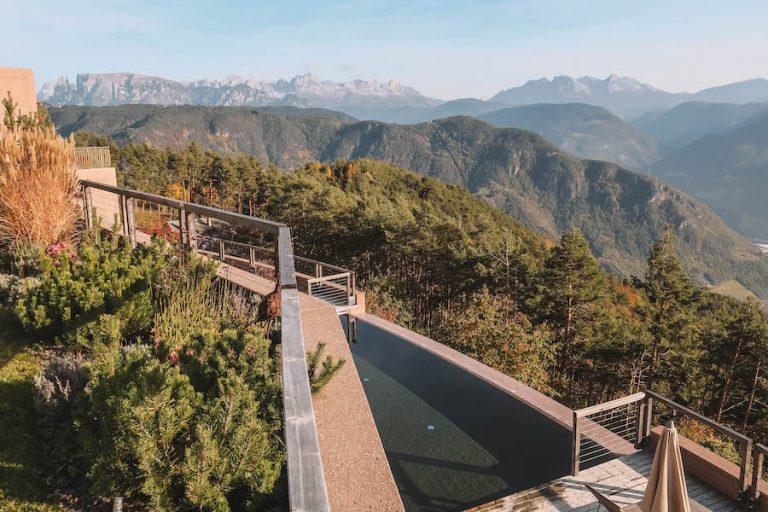 Hotel Belvedere Jenesien uitzicht