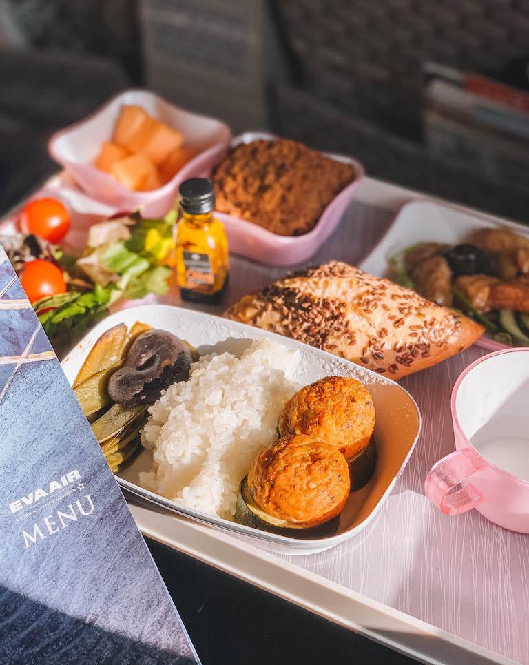 Eva Air Premium Economy-eten