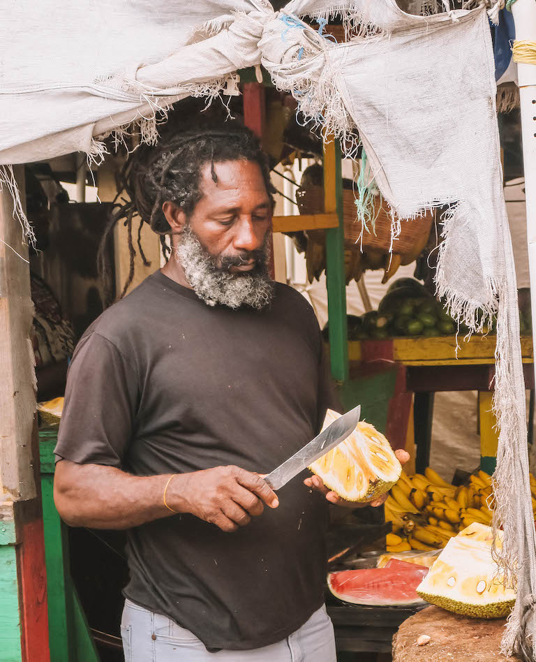 Caribische keuken jackfruit