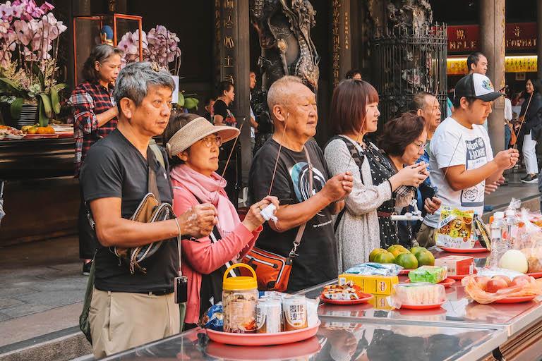 Taipei die Longshan-tempel bezienswaardigheden bezoeken