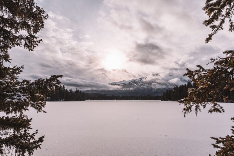 Jasper Nationaal Park Winter Lac Beauvert