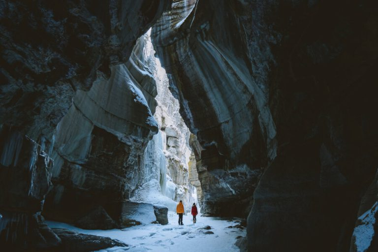 Jasper Nationaal Park Winter Maligne Canyon