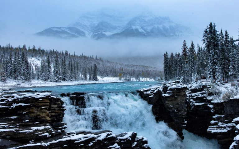 Jasper Nationaal Park Winter Athabasca Falls