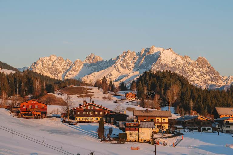 Kitzbuehler Alpen Fieberbrunn zonsopgang