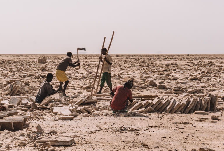 Afar driehoek zoutwinning Ethiopië