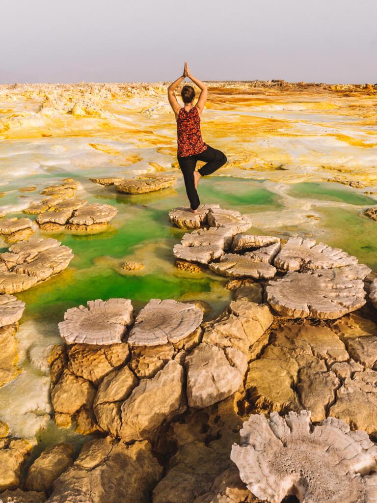 Dallol Afar driehoek Danakil woestijnzwavel