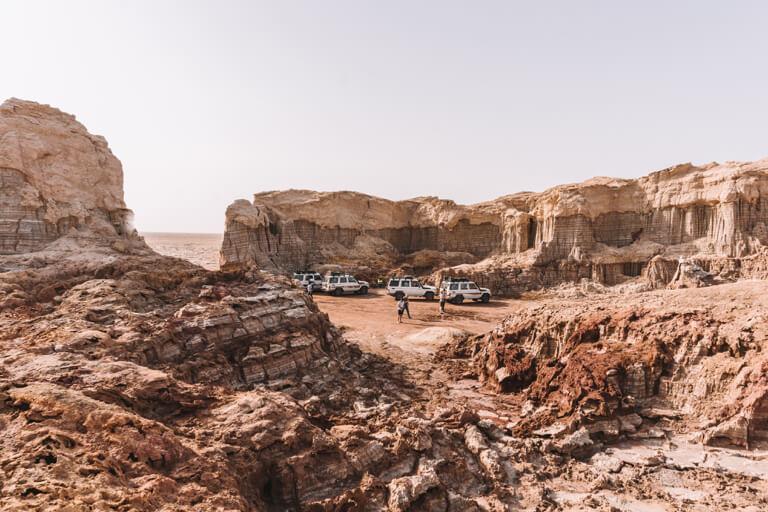 Dallol vulkaan Danakil Desert Salt Canyon Ethiopië
