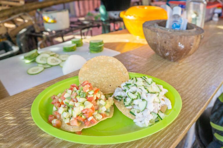 Holbox Mercado Tacos van de binnenstad