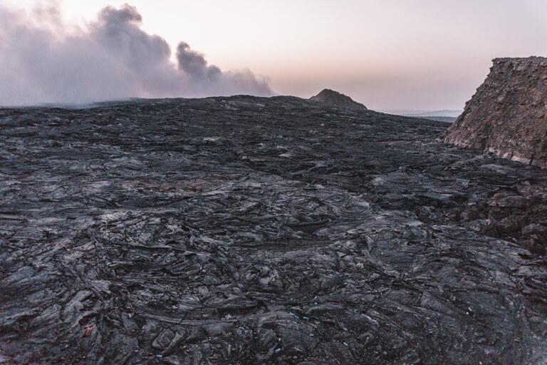 Erta Ale vulkaan Ethiopië lava veld