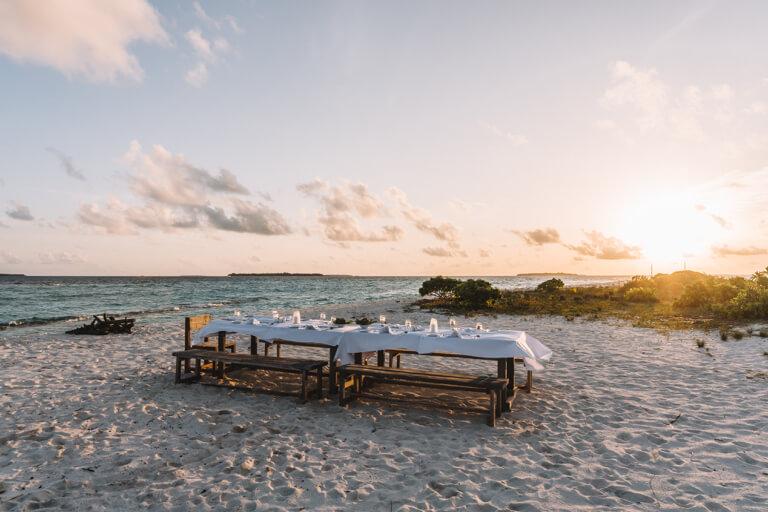 Reethi Beach Resort Moonlight Dinner Maldives Islands Moonlight