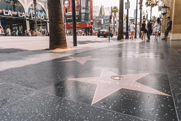 Bezienswaardigheden in Los Angeles Hollywood Walk of Fame