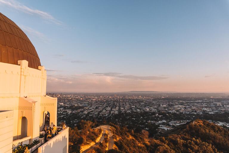 Sunset Griffith Observatory Planetarium