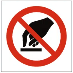 do not touch label