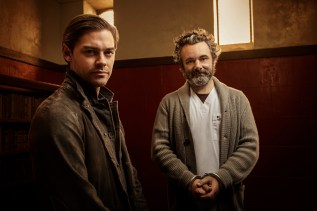 PRODIGAL SON: L-R: Tom Payne and Michael Sheen in the series premiere episode of PRODIGAL SON airing Monday, Sept. 23 (9:00-10:00 PM ET/PT) on FOX. © 2019 FOX MEDIA LLC. Cr: David Giesbrecht / FOX.